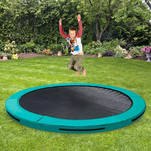 trampolina ORBIT Inground 244 cm tmavozelena 04